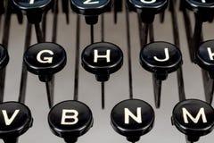 Detail von Tasten auf Retro Schreibmaschine Lizenzfreies Stockbild