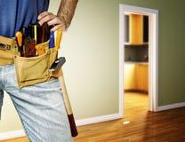 Detail von toolbelt auf Heimwerker Lizenzfreie Stockfotografie