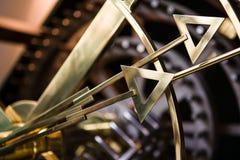 Detail von Uhrhandtipps Stockfotografie