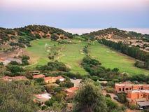 Detail von Villasimius-Golfplatz, Sardinien, Italien Stockfotos