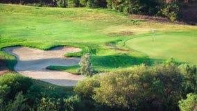 Detail von Villasimius-Golfplatz, Sardinien, Italien Lizenzfreies Stockbild