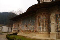 detail of Voronet monastery Royalty Free Stock Images
