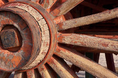 Detail of a wagon wheel Royalty Free Stock Image