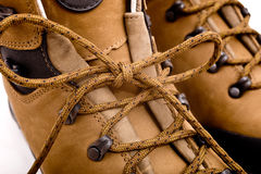 Detail of walking boots Royalty Free Stock Photos