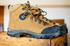 Detail of walking boots Royalty Free Stock Photography