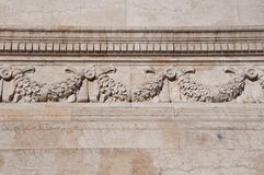 Detail of the wall. Altare della Patria. Rome. Stock Image