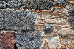 Detail of wall of ancient castle in Calatabiano Royalty Free Stock Image