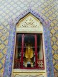 Detail wall and buddha image at Wat Ratchabopit Stock Photo