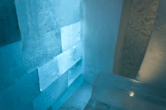 Detail of wall in Ice Hotel Royalty Free Stock Photo