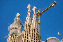 Detail of a wall La Sagrada Familia - the impressive cathedral designed by Gaudi Royalty Free Stock Photo