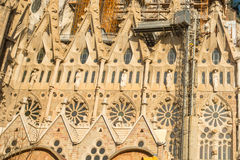 Detail of a wall La Sagrada Familia - the impressive cathedral designed by Gaudi Stock Photography