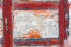 Detail of an old half-timbered house. Detail of the wall of an old half-timbered house Royalty Free Stock Photos