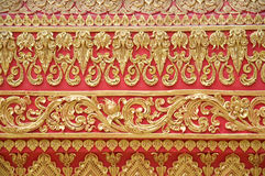 Detail of the wall at Phrathat Lampang Luang Royalty Free Stock Images