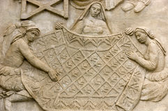 Detail of wall relief in Belém Stock Images