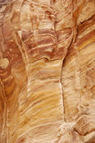 Detail of a wall at the Siq in Petra Stock Images