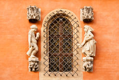 Detail on the wall of Town Hall in Wroclaw, Poland Stock Images