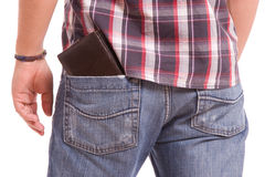 Detail of wallet Stock Image