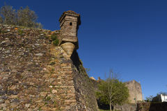 Detail walls of Castle, Castelo de Vite, Royalty Free Stock Photography