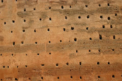Detail of walls with holes Stock Photo