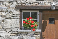 Detail of Walser houses in Val Formazza, Stock Images