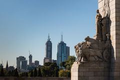 Detail of war memorial in Melbourne Stock Photo