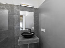 Detail of washbasin in a modern bathroom Royalty Free Stock Photo