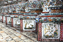 Detail of Wat Arun temple Stock Photography