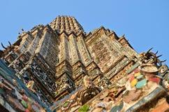 Detail of wat arun temple. In bangkok, thailand stock photos