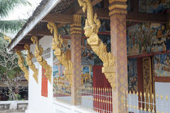 Detail of Wat Nong temple in Luang Prabang Royalty Free Stock Photos