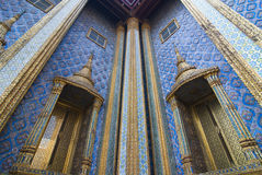 Detail of Wat Phra Keaw wall Royalty Free Stock Photography
