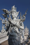 Detail at Wat Rong Khun stock images