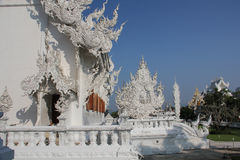Detail at Wat Rong Khun royalty free stock image
