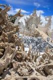 Detail-Wat Rong Khun-Tempel Chiang Rai Thailand stockfotos