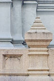 Detail of Wat's(Temple) Balustrade in Thailand Stock Photography