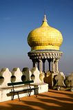 Detail of a watching tower Moorish style in Pena Palace. Stock Photo