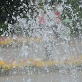 Detail of a water drops in a fountain Stock Image