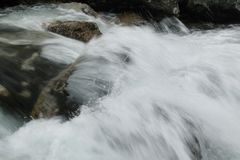 Detail of water rapids Royalty Free Stock Photos