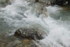 Detail of water rapids Stock Photo