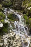 Detail of waterfall. On morcone sassinoro Stock Photos