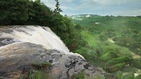 Detail of waterfall Elephant, Vietnam stock footage