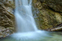 Detail waterfall. On the image is small watterfall in nature royalty free stock photography