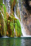Detail of Waterfall on Plitvice Lakes Stock Photos