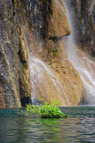 Detail of Waterfall on Plitvice Lakes Royalty Free Stock Photo