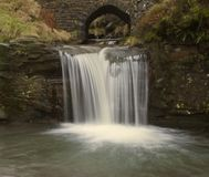 Detail of waterfall at Three Shires Head Stock Photo