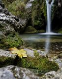 A waterfall view Royalty Free Stock Photo