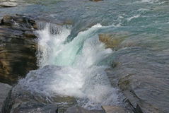 Detail, waterfalls, Athabasca Falls Royalty Free Stock Photography