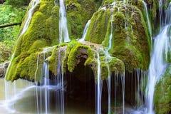 Detail of waterflow on beautiful cascade Stock Photo