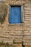 Detail of The Wattle and daub Architecture technic. Wattle and daub (or wattle-and-daub) is a building material used for making walls, in which a woven lattice Royalty Free Stock Photo