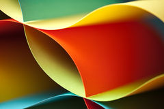Detail of waved colored paper structure Stock Photography