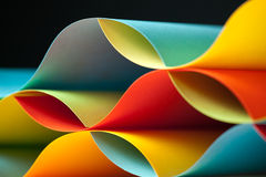 Detail of waved colored paper structure Stock Image